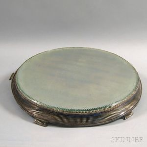 Large T.B. Clark & Co. Mirrored Silver-plated Plateau
