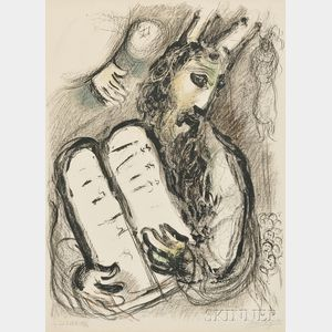 Marc Chagall (Russian/French, 1887-1985)      Moses and the Table of the Law
