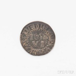 Sold for: $2,829 - 1652 Pine Tree Sixpence