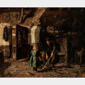 Jacob Simon Hendrik Kever (Dutch, 1854-1922)      Genre Scene
