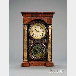 Rosewood and Gilt Column Shelf Clock