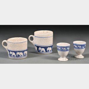 Four Pieces of Dedham Elephant Pottery