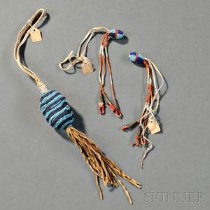 Group of Plains Beaded Items