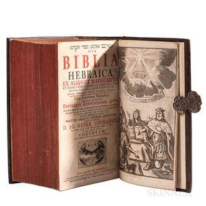 Bible, Hebrew. Biblia Hebraica  , edited by Johann Heinrich Michaelis (1668-1738)