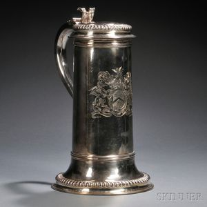 William III Large Sterling Silver Tankard