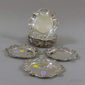 Twelve Reed & Barton Sterling Silver Bread and Butter Plates