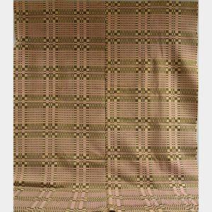 Wool Three-color Overshot Coverlet