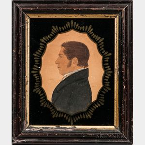 Rufus Porter (Connecticut/Massachusetts, 1792-1884)      Portrait of William Pierce Loring