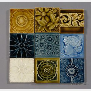 Thirty Decorated Tiles: Various Makers