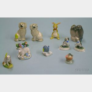 Ten Assorted Ceramic Animal Figures