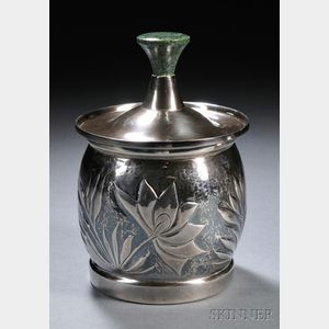 Henry Petzal Silversmith (1906-2002) Decorated Covered Vessel
