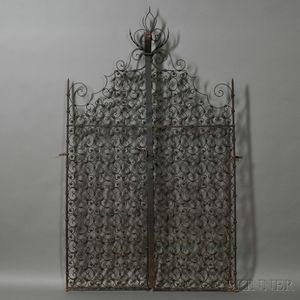 Pair of Spanish Colonial-style Wrought Iron Gates
