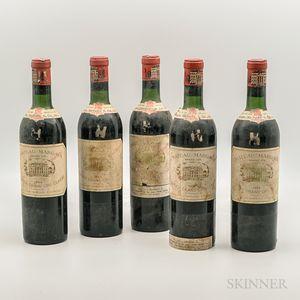 Chateau Margaux 1964, 5 bottles
