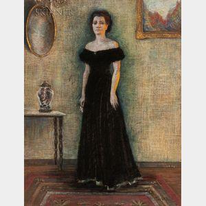 American School, 20th Century      Pastel Portrait of a Woman