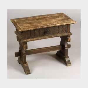 Renaissance Style Pine Side Table