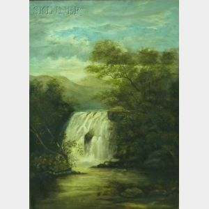 American School, 19th Century      Waterfall