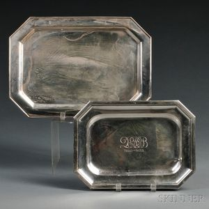 Two Silver Serving Trays
