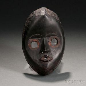 Dan Carved Wood Mask