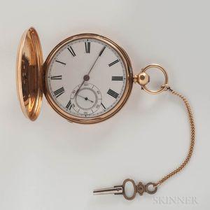 Nugent Wells 18kt Gold Hunter-case Watch