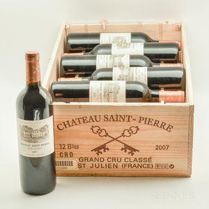 Chateau Saint Pierre 2007, 12 bottles (owc)