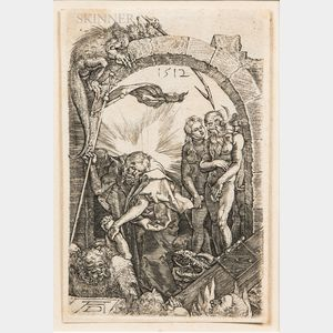 Two Framed Old Master-style Prints:      After Albrecht Dürer (German, 1471-1528), The Harrowing of Hell