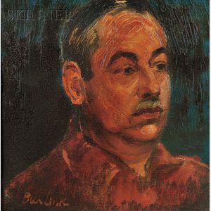 David Burliuk (Ukrainian/American, 1882-1967)      Portrait of Frank Banker
