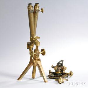 J. Howie Disassembled Binocular Compound Microscope