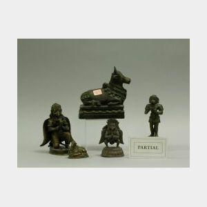 Eleven Assorted Asian Cast Bronze Figures