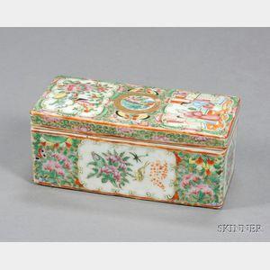 Rose Medallion Porcelain Brush Box