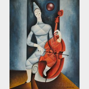 Jose Maria de Servin (Mexican, 1917-1995)      The Cellist