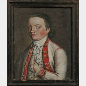 Anglo/American School, 18th Century      Portrait of a Young Gentleman.