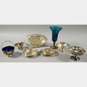 Eight Assorted Silver and Silver-mounted Serving and Tableware Items