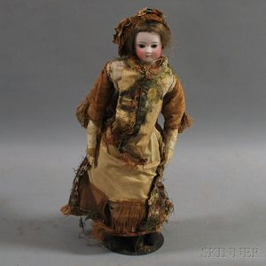 French Bisque Shoulder Head Lady Doll
