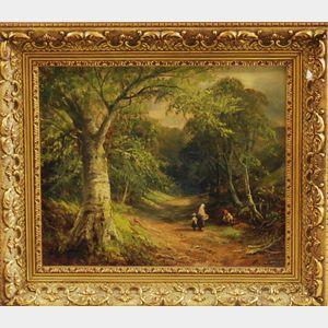 George Turner (English, 1843-1910)       Roadside Scene.
