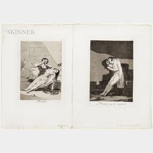 Francisco José de Goya y Lucientes (Spanish, 1746-1828)      Two Plates from Los Caprichos
