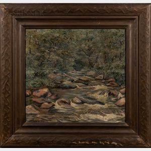 Elliot Torrey (American, 1867-1949)      River Landscape.