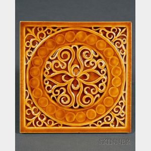 Sixteen Decorated Tiles: Various Makers