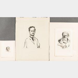 Lovis Corinth (German, 1858-1925)      Three Works: Alice Berend ,  Dr. Ludwig Frank