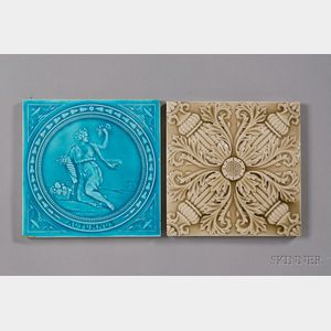 Two Decorated Tiles: Minton