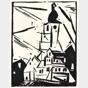 Lyonel Feininger (German/American, 1871-1956)      Buttelstedt