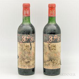 Chateau Mouton Rothschild 1967, 2 bottles