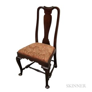 Queen Anne Stained Maple Side Chair