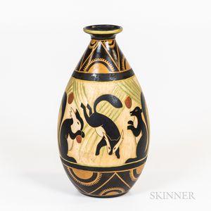 Boch Freres-type Charles Catteau Design Keramis Vase