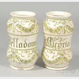 Pair of Porcelain Drug Jars