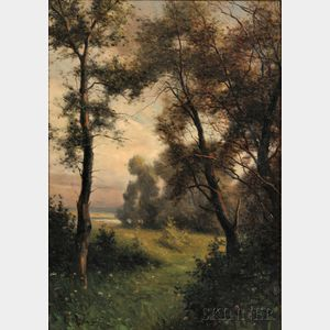 Louis Aston Knight (American, 1873-1948)      Landscape with Trees