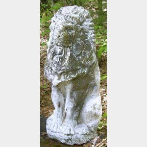 Large Cast Stone Figure of a Lion