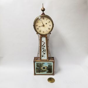 Reverse-painted Mahogany Patent Timepiece