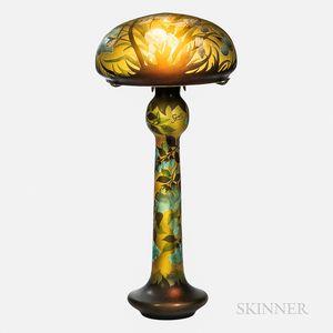 Monumental Reproduction Gallé Lamp