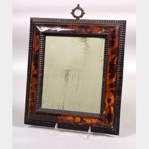 Carved Tortoiseshell Veneered Framed Mirror