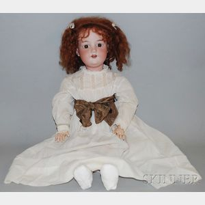 Large AM 390 Bisque Head Doll